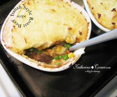 Italian Style Roast Beef I'm calling this a fusion recipe,a mixture of Italian and English. My Italian Style Roast Beefcloselyresembles my shepherds pie recipe ( wink). It is a quick and easy way to satisfy a hungry appetite or to use up leftovers. I made these in individual crocks for aneasy