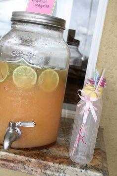 Grapefruit Margarita Pink Grapefruit, Fresh Lime, Summer Cocktails, Yummy Drinks, Margarita, Mason Jars, Cookies, Inspired, Tableware