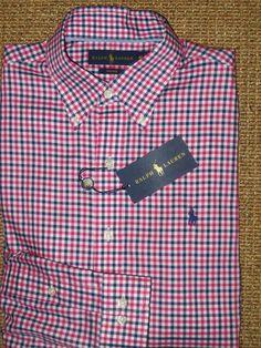 2862e7c3bf Polo Ralph Lauren Men's Regular Long Sleeve Sleeve Button-Front Casual  Shirts   eBay
