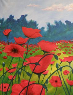 Spirits and Splatters - Poppy Fields - Paint Party