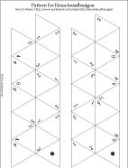 Printable pattern for hexa-hexaflexagon - numbered, ready to color