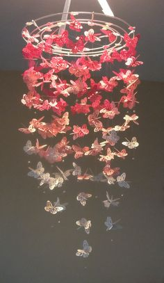 Pretty in Pink - Monarch Butterfly Chandelier mobile. $60.00, via Etsy.