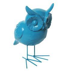 Escultura Coruja Turquesa