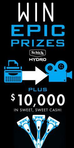 #Win $10,000 with #Schick Hydro