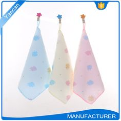 Absorbent Terry Cotton Cloth Printed Hanging Kitchen Hand Towels
