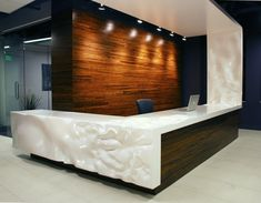 """SAKASHI"" - Executive Office Desk: Metamorphic Custom High Gloss White Workspace by PlastikBanana in Salt Lake City, UT."