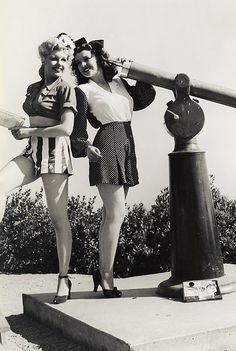 "vintagegal: "" Pin-up gals photographed by joseph Jasgur c. 1940s """