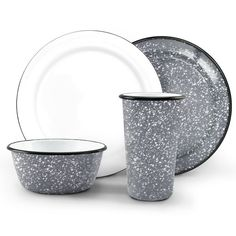 12-Piece Graniteware Dinner Set  sc 1 st  Pinterest & Solene Square Stoneware 16pc Dinnerware Set Gray - Project 62 ...