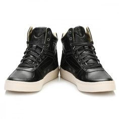 Trouva: Diesel Mens Black S Spaark Mid Trainers