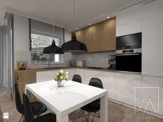 Mieszkanie // Wronki - Duża otwarta kuchnia w kształcie litery l, styl nowoczesny - zdjęcie od Sztyblewicz-Architekci