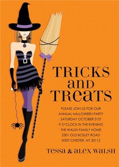 Halloween invitation cards spooky halloween cards pinterest halloween witch party invitations happy halloween cards stopboris Images
