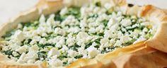 Græsk spinat-og fetatærte