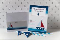 Nautical - Invitation and Address Labels - Birthday Boy - Custom Printable - psDre Party Printables. €10,00, via Etsy.