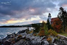 """Dawn at """"Eagle Harbor Lighthouse"""" (Copper Country) Michigan's Keweenaw Peninsula."""