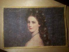 Erzsébet (Sissi) királyné tányéralátét Queen Elizabeth (Sissi) placemat Sissi, My Job, Placemat, Queen Elizabeth, Mona Lisa, Artwork, Work Of Art, Auguste Rodin Artwork, Artworks