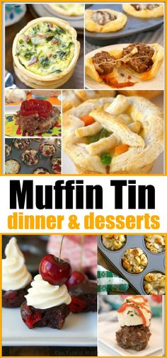 tin recipes to make at dinner and dessert time fun! If you've never made dinner in muffin tins before it's a great way to make meals fun and cook quickly! Kids love this fun new way to make recipes and it's a great way to get them involved in cooking too. Kids Cooking Recipes, Kids Meals, Cooking Bacon, Easy Cooking, Healthy Cooking, Healthy Meals, Kid Muffins, Muffin Pan Recipes, Best Dinner Recipes