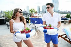Cocktails were served on branded life preserver rings. West Hollywood Hotels, French Riviera Style, Whiskey Brands, Surf Lodge, South Beach Hotels, Riverside Drive, Park In New York, Grey Goose, Poses For Photos