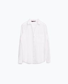 LINEN SHIRT-Shirts-TOPS-WOMAN   ZARA United States