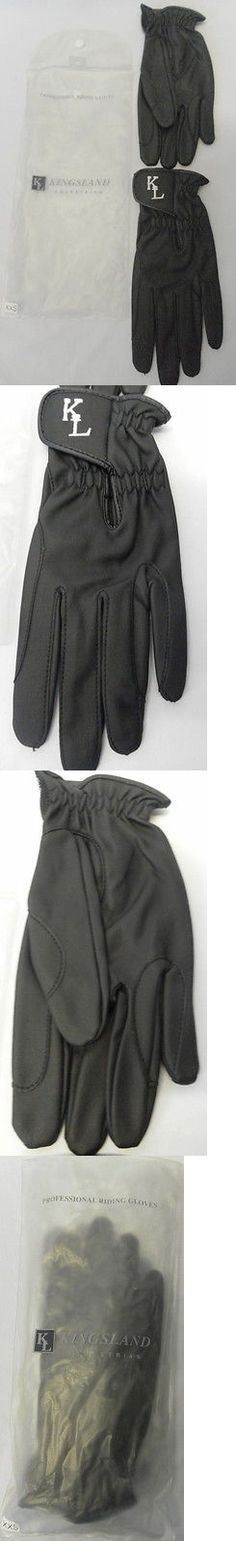 Riding Gloves 95104: Kingsland Equestrian Riding Gloves In Xxs Black -> BUY IT NOW ONLY: $34.95 on eBay!