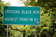 Black Mountain, Kentucky.  Highest point in the state