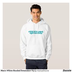 Men's White Hooded Sweatshirt V3 - Stylish Comfortable And Warm Hooded Sweatshirts By Talented Fashion & Graphic Designers - #sweatshirts #hoodies #mensfashion #apparel #shopping #bargain #sale #outfit #stylish #cool #graphicdesign #trendy #fashion #design #fashiondesign #designer #fashiondesigner #style