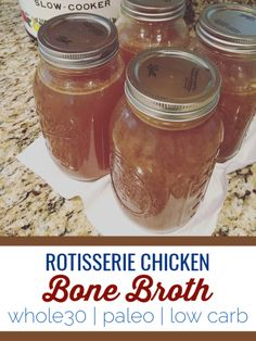 Costco Chicken, Chicken Recipes, Crockpot Recipes, Recipes Using Rotisserie Chicken, Cooker Recipes, Slow Cooker Bone Broth, Easy Whole 30 Recipes, Healthy Recipes, Easy Recipes