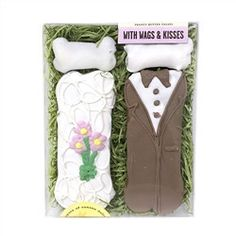 With Wags & Kisses - Bride & Groom Bones - BD Luxe Dogs & Supplies