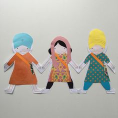 This Sikhi Paper Doll Chain is a perfect activity to learn the importance of being ਨਿਰਵੈਰ - Nirvair - to be without hate and be friends with everybody.