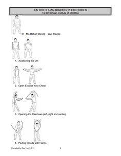 Qigong 18 pics exercises in pdf