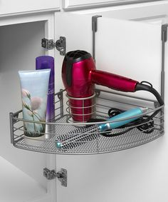 Look at this Silver Over-the-Cabinet Styling Center on #zulily today!