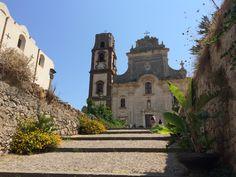 Kathedraal van Sint-Bartholomeo op het eiland Lipari in Italia.