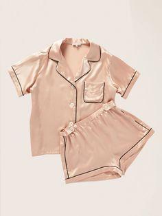 Morgan Lane Women's Katelyn Top & Fiona Short Pajama Set, Rose Smoke (Pink, Size X-Large) Cute Sleepwear, Sleepwear Women, Pajamas Women, Sleepwear Sets, Cute Pajama Sets, Cute Pajamas, Silk Pajamas, Pyjamas, Pajama Short Sets