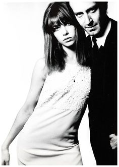 Jane Birkin e John Barry , foto di David Bailey