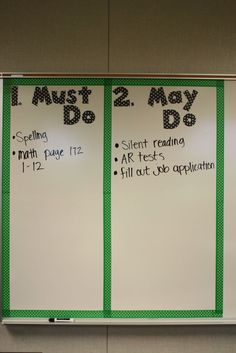 "Yes! Yes!  Yes!  There is no guessing in this classroom.  The teacher has clearly laid out the expectations and the ""what ifs"" nicely!"