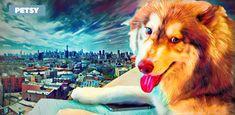 Custom Pet Art by Petsy Custom Dog Portraits, Pet Portraits, Gifts For Pet Lovers, Pet Gifts, Corgi, Artists, Detail, Pets, Canvas