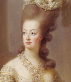 —Detail: A portrait of Marie Antoinette by Elisabeth Vigee-Lebrun