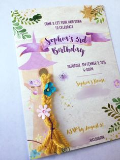 Tangled rapunzel birthday party once upon a time rapunzel tangled rapunzel birthday party invitation filmwisefo