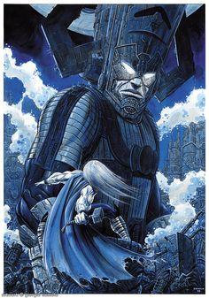 Thor vs. Galactus by Giorgio Comolo