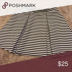 Mini skirt Flawless black and white mini skirt.  If you feel the need to make an offer, please use the offer button & not the comments section Forever 21 Skirts Mini