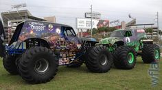 Son-Uva Digger and Grave Digger are nose to nose outside Raymond James Stadium. WFLA reporter Dave Kraut has a preview of Monster Jam in Tampa.