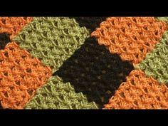 Вяжем плед из квадратов единым полотном - YouTube