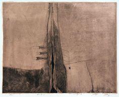84-閉-5 etching with chine colle HAYASHI Takahiko 林孝彦1984