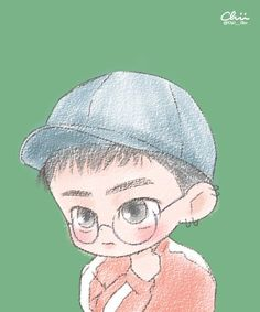 Kyungsoo Lucky One K Pop, Exo Lucky One, Kyungsoo, Exo Cartoon, Exo Anime, Exo Album, Exo Fan Art, Kpop Drawings, Exo Do