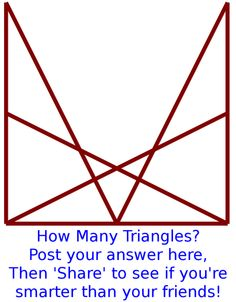 Can you count the number of triangles in the image?