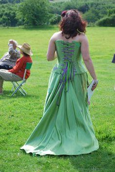 Pale green corset dress