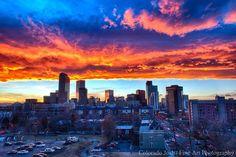 Bronco's Sunset in Denver  Colorado Josh  fine art photography