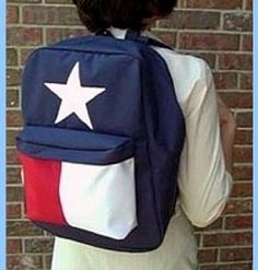 Texas Flag Backpack ohhhhhhhhhhh i want!!!