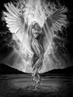 Born in Los Angeles, Chris' initial interest in the interplay between art and architectural history began with a degree in Developm. 3d Fantasy, Fantasy Kunst, Fantasy Women, Dark Fantasy, Angel Artwork, Angel Drawing, Angel Tattoo Designs, Angel Warrior, Ange Demon