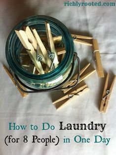 Washing all your laundry in one day creates a simple, effective routine to help keep laundry in check.