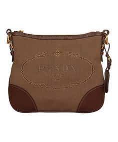 Take a look at this Corda Bruciato Crossbody Bag by Prada on #zulily today!